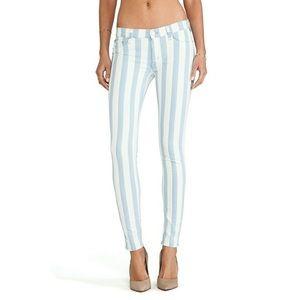 Hudson krista super skinny liberated striped jeans